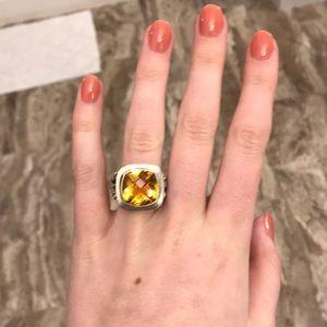David Yurman citrine albion 11 mm ring